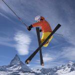Skisprung vor dem Matterhorn  Foto by Christof Sonderegger