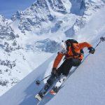 Ski Freeride vor der Kulisse der Berninagruppe  Photo by Christof Sonderegger